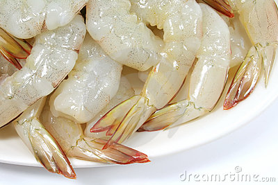 Prawn Dish Raw and Fresh