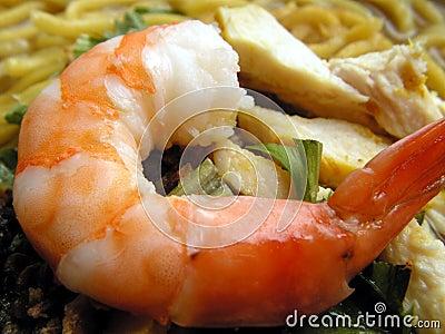 Prawn noodles = mee soto