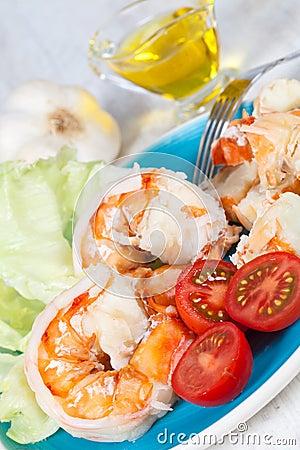 Free Prawn Salad Stock Images - 21738564