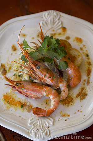 Prawns on a Plate