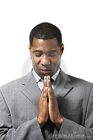 Pray businessman