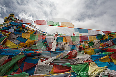 Pray flags in Tibet