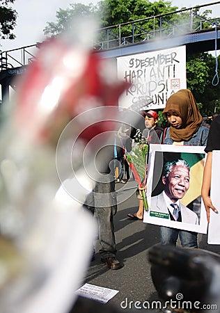 Pray for mandela Editorial Photo