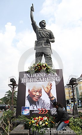 Pray for mandela Editorial Stock Image