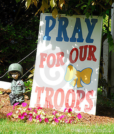 Pray for our troops Editorial Stock Image