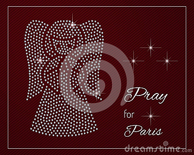 pray for paris cartoon vector cartoondealer com 62569407