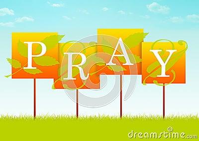Pray Sign
