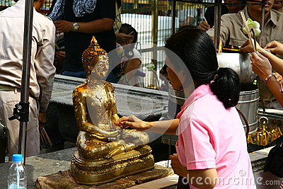 Pray to Buddha Editorial Stock Image