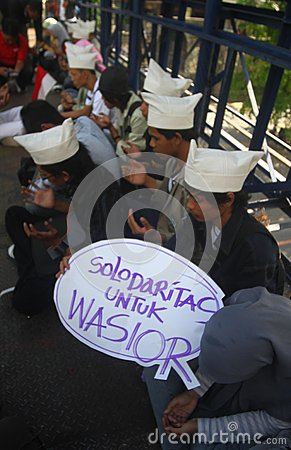 Pray for Wasior Editorial Stock Photo
