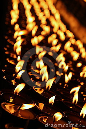 Free Prayer Candles Stock Photography - 11855212