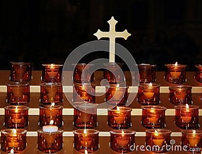 Prayer candles.