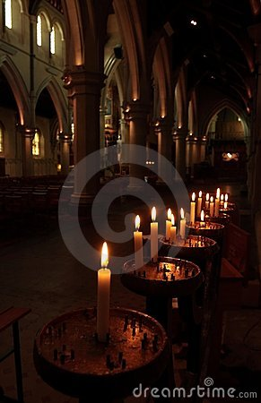 Prayer Candles In A Church Royalty Free Stock Images - Image: 14313499
