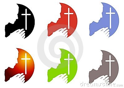 Prayer and Cross Logos or Icons