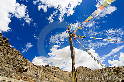 Prayer Flags In Ladakh (leh, India) Stock Photos - Image: 9912283