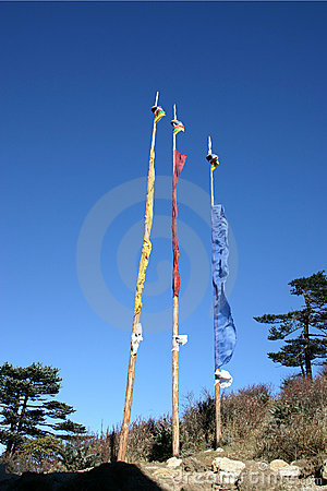 Prayer flags, northeast India