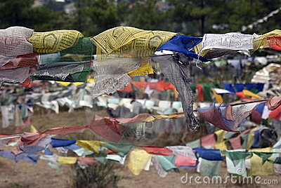 Prayer flags, Thimphu, Bhutan