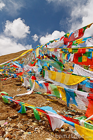 Prayer Flags on top of the mountain