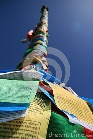 Prayer flags tower