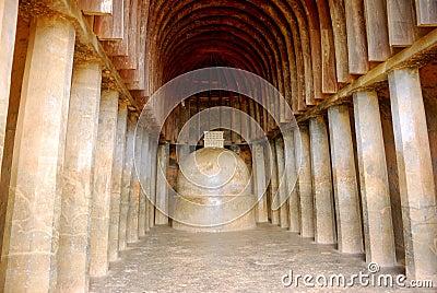 Prayer hall, Bhaja, Maharashtra, India