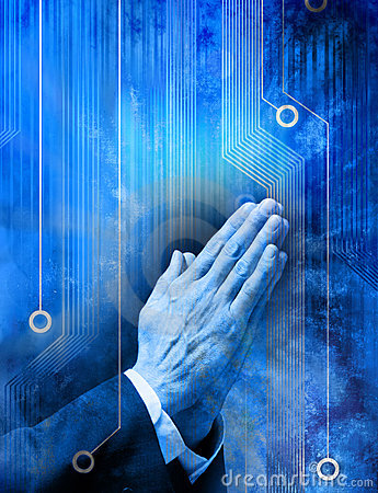 Free Prayer Religion Technology Computer Royalty Free Stock Photo - 16864025