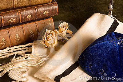 Prayer shawl and books