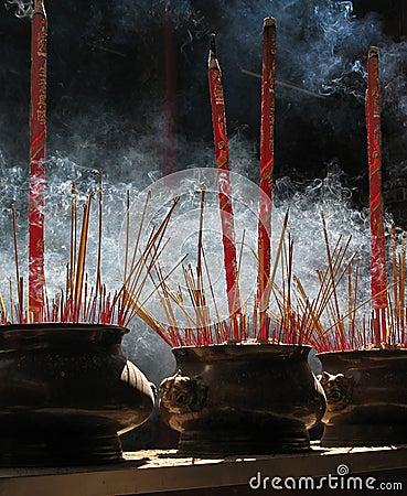 Prayer sticks, Thien Hau Pagoda, Vietnam