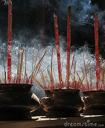 Free Prayer Sticks, Thien Hau Pagoda, Vietnam Stock Photo - 695890