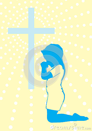 A Prayer to God Background Illustration