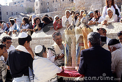 Prayer at the wailing wall Editorial Photography