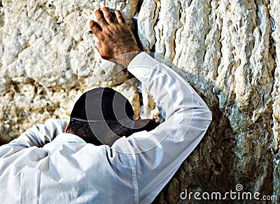 Prayer at the wailing wall, Jerusalem Israel