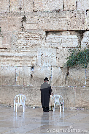 Prayer at the wailing wall Jerusalem, Israel Editorial Image