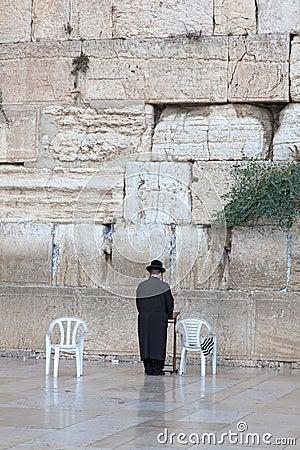 Prayer at the wailing wall Jerusalem, Israel Editorial Image