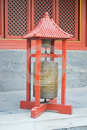 Prayer wheel, Lama Temple, Beijing, China