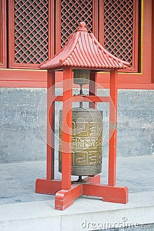 Prayer wheel, Lama Temple, Beijing, China