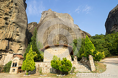 Prayerful place of hermit monks in the Greek Meteora