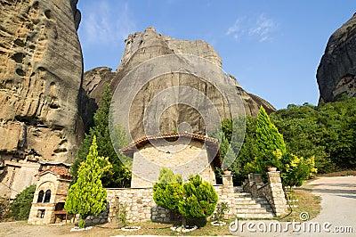Prayerful place of hermit monks in the Greek Meteors