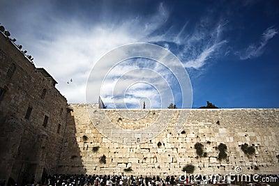 Prayers at the Western Wall Editorial Photo