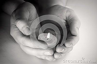 Praying candle