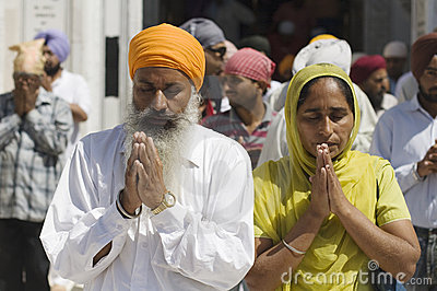 Sikhs at the Golden Temple in Amristar, Punjab, India Editorial Photo