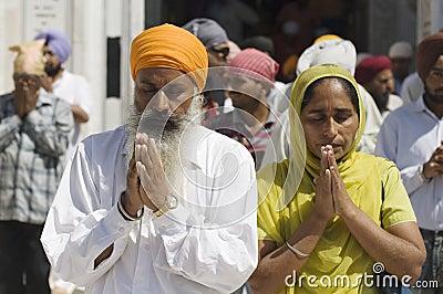 Praying couple  Editorial Photo