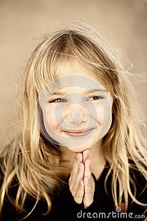 Praying da menina