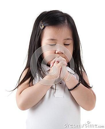 Free Praying Girl Stock Photo - 21418280