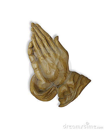Praying hands 3D