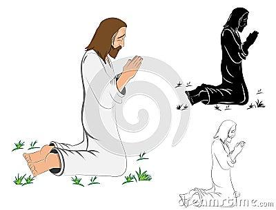 Praying Jesus Christ