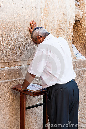 Praying jew Editorial Photo