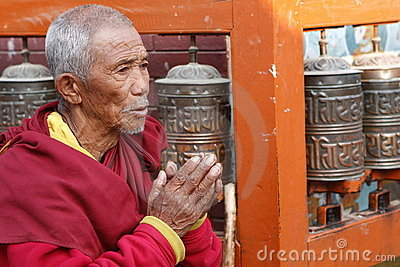 Praying man Editorial Stock Image
