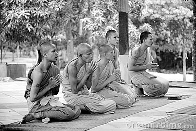 Buddhist monks Editorial Photo