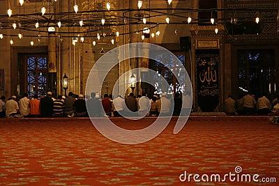 Praying at Mosque