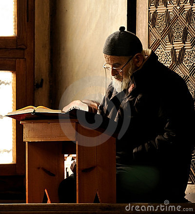 Praying muslim in bursa Editorial Stock Photo