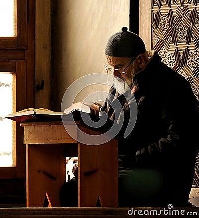 Praying muslim in bursa Editorial Stock Photo